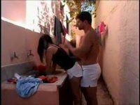 Brasileirinhas Porno amador com a putinha brasileira gostosa em Donas de Casa Cena 3